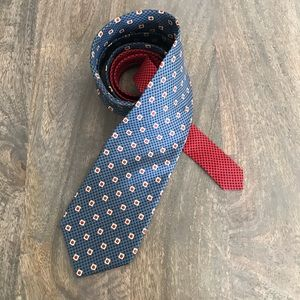 Tommy Hilfiger 100% Silk Dotted Floral Print Tie